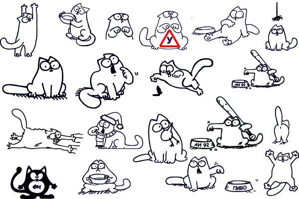 Как рисовать кота саймона в картинках